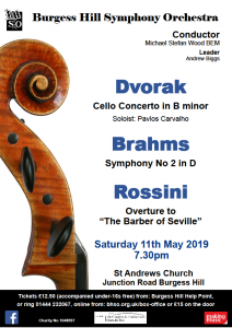 BHSO May 2019 concert poster