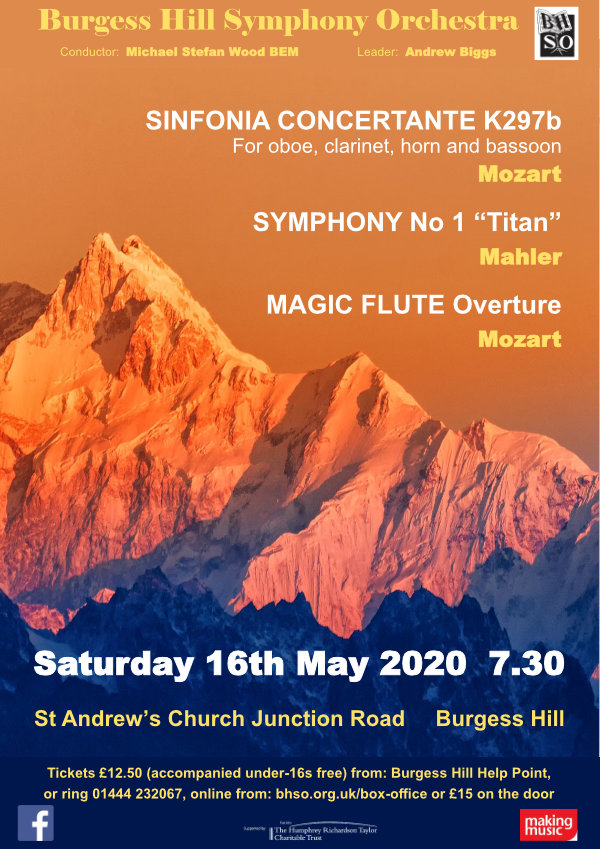 BHSO May 2020 Concert Poster